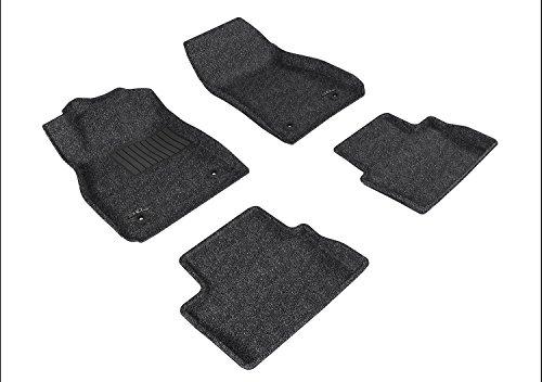Malibu Chevrolet Carpet - 3D MAXpider Complete Set Custom Fit All-Weather Floor Mat for Select Chevrolet Malibu Models - Classic Carpet (Gray)