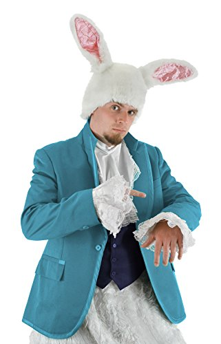 Alice And Wonderland Rabbit Costumes (Disney Alice in Wonderland White Rabbit Hat by elope)