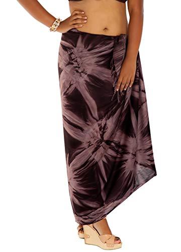 1 World Sarongs Womens Smoked Plus Fringeless (TM) Sarong in -