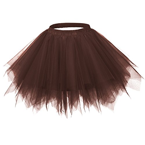 age 1950s Tutu Petticoat Ballet Bubble Dance Skirt Chocolate S/M (Chocolate Tutu)