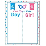 PROLOSO Baby Shower Gender Reveal Voting Board Team with Pink & Blue Stickers
