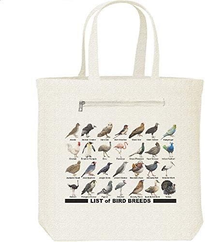 エムワイディエス(MYDS) 鳥類のリスト/キャンバス トートバッグ・ファスナー ポケット付