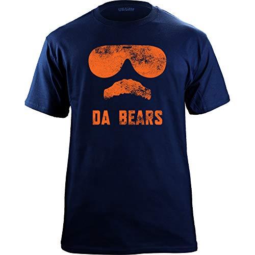 Vintage Da Bears Ditka Funny Joke T-Shirt (X-Large, Navy/Orange)