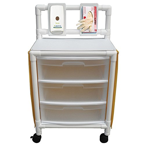 MJM International 3U3D-ISO MRI Universal Cart, 3 Drawer, 125 fl oz, 48.75