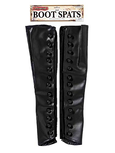 Forum Unisex-Adult's Steampunk Boot Spats, Black, One Size -