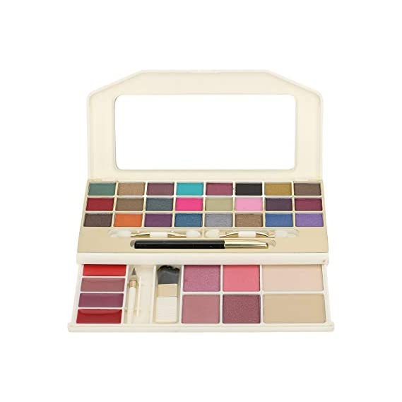 Cameleon Makeup Kit Gold (2X Powder 24X Eyeshadows 4X Blusher 1X eye Pencil 4X Lip Gloss 5X Applicators)