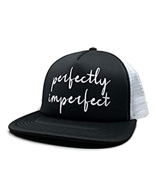 Devious Apparel 94-14 Perfectly Imperfect Cute Inspirational Glitter Foam Trucker Hat