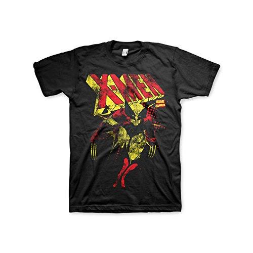 Offizielles Lizenzprodukt Marvel Comics X-Herren Distressed T-Shirt (Schwarz)