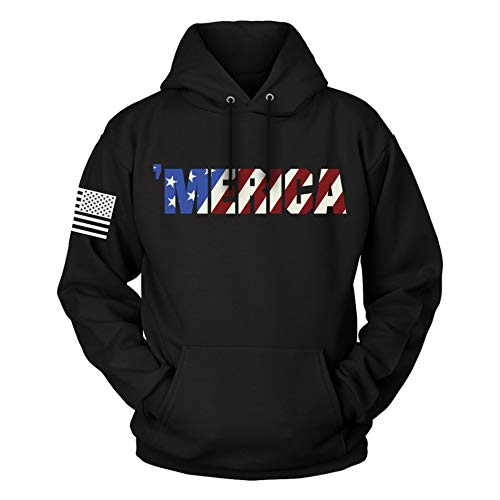 The Fighting Forces American Flag Patriotic Hoodie (