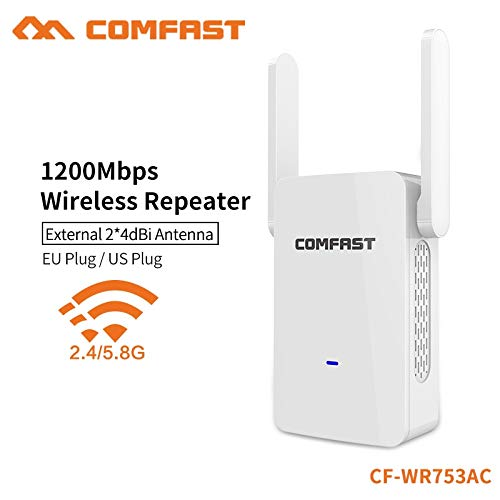 News Comfast 1200Mbps Dual Band WiFi Signal Extender 2.4G 300Mbps+5G 867Mbps Network Router Range 24dBi External Antenna CF-WR753AC ()
