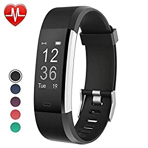 YAMAY Fitness Tracker, Fitness Watch Activity Tracker with Heart Rate Monitor,Sleep Monitor,Step Counter,Calories,14 Sports Tracker,IP67 Waterproof,Slim Pedometer Watch for Men,Women and Kids