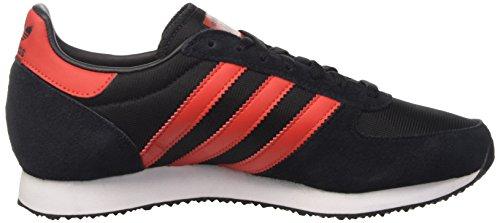 adidas Zx Racer, Zapatillas De Deporte Unisex Adulto Negro (Negbas / Rojo / Ftwbla)