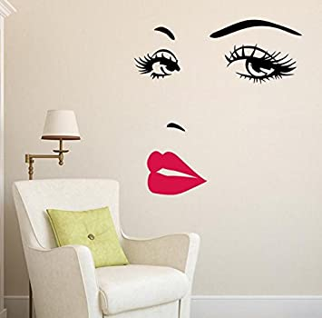 Amazoncom Hot Pink Lips Marilyn Monroe Quote Vinyl Wall Stickers