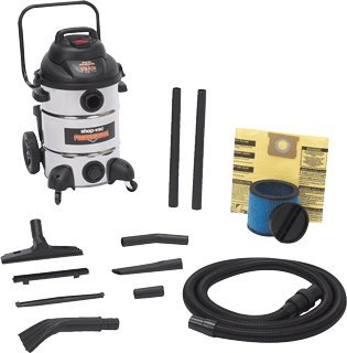 12 Gal 6.5 Hp Stainless Steel Wet/Dry Utility Vacuum-2pack