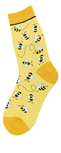 Foot Traffic - Bugs Women's Socks, Bees All Over -