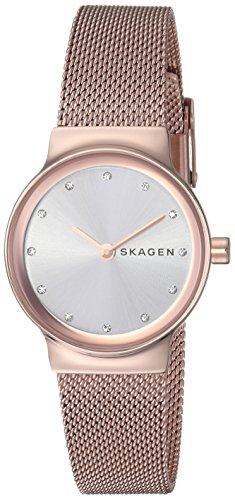 Skagen Women's 'Freja' Quartz Stainless Steel Casual Watch, Color:Gold-Toned (Model: SKW2665)