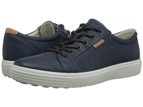 ECCO(エコー) メンズ 男性用 シューズ 靴 スニーカー 運動靴 Soft 7 Perf Tie - Navy [並行輸入品] B07BLT56KJ
