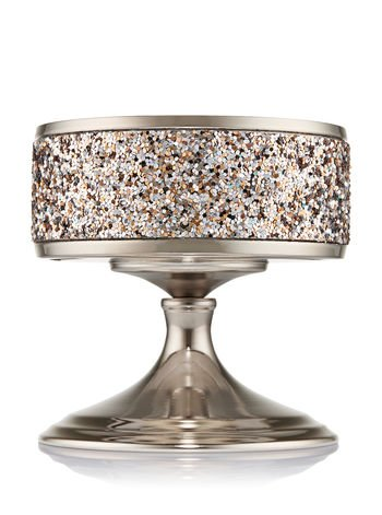 Bath & Body Works Glittering Pedestal 3 Wick Candle Sleeve Holder bw