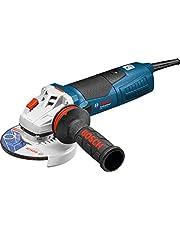 Bosch Professional vinkelslip GWS 17-125 CIT (skiv-Ø 125 mm, 1700 W, med spännmutter, sprängskydd, stiftnyckel och Vibration Control-stödhandtag)