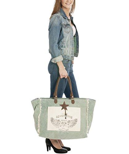 Sunsa Borse da Donna Vintage Borse a tracolla Borsette in Canvas / Telo olona con pelle 51687
