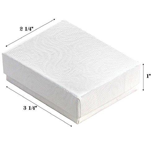 100 Cotton Boxes White Pendant Chain Jewelry Displays (Pendant Chain White Jewelry Display)