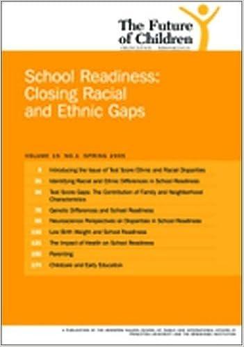 Téléchargement gratuit des livres électroniques au format pdf The Future of Children: Spring 2005: School Readiness: Closing Racial and Ethnic Gaps (Littérature Française) PDF