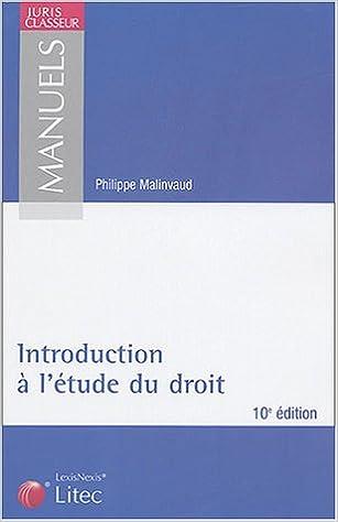 Livre gratuits Introduction à l'étude du droit (ancienne édition) pdf