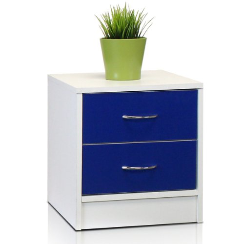 Furinno NT-11161WH/BL Click N Easy No Tools 2-Tone 2-Drawer Chest, White/Blue by Furinno
