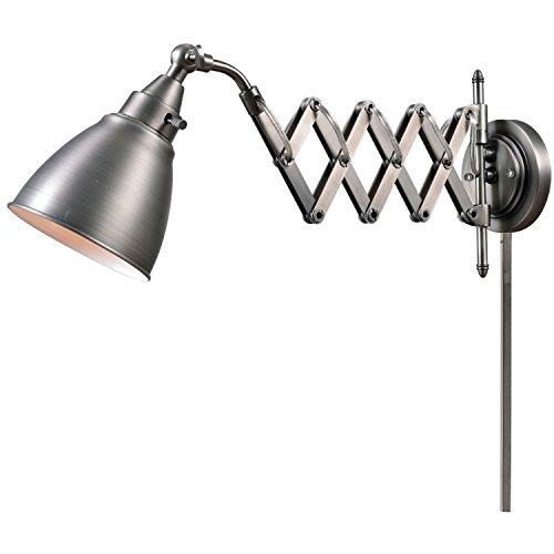 Kenyon International 32197ANI Floren Swing Arm Lamp - Antiqu