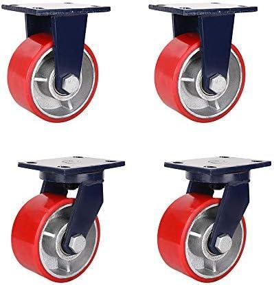 超頑丈キャスター、鉄芯キャスター、ポリウレタンキャスター、工業用キャスター、PUキャスター、厚いブラケット、軽量で省力化(4インチ、5インチ、6インチ)