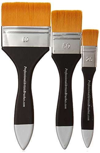 Flat Varnish Brush (Large Wash Brushes for Acrylics and Watercolor: 1
