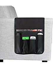 Greenery-GRE 5 Pockets Sofa Armrest Organizer Couch Chair Double Sided Waterproof Caddy Organiser TV Remote Control Magazine Book Newspaper Phone Holder Storage Bag