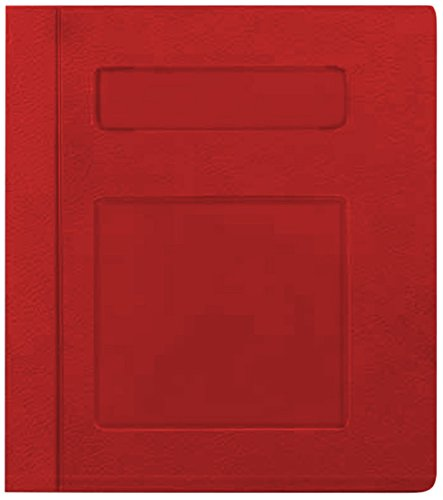 PDC Healthcare CBS16R Poly Binder, Side Open, 3-Ring, Blank Front, 3'', Red