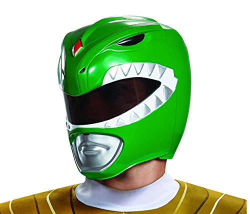 Mmpr Green Ranger Costumes - Disguise Men's Green Ranger Adult Helmet,