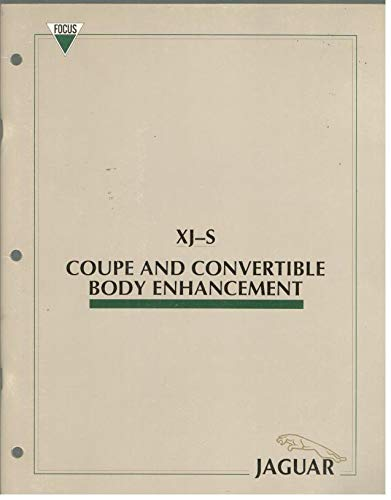 1989 Jaguar XJ-S Coupe and Convertible Body Enhancement Manual
