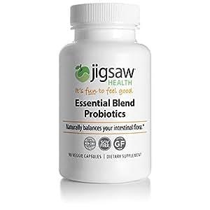 Jigsaw Health Essential Blend Probiotics - Doctor Recommended, Best Probiotic: Effective Formula, Professional Strength, High Quality with 25 Billion CFUs, including L. Acidophilus La-14.
