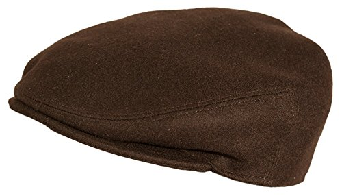 Levine Hat Cashmere 'Pronto' IVY Cap (XLarge (Fits 7 1/2 To 7 5/8), Brown)
