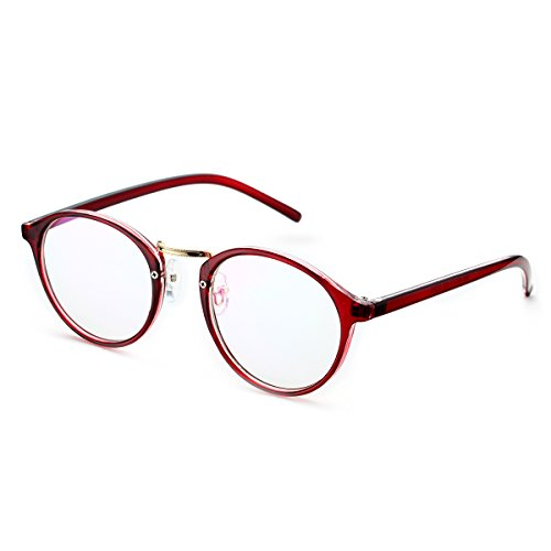 PenSee Vintage Inspired Eyeglasses Frame Round Circle Clear Lens Glasses