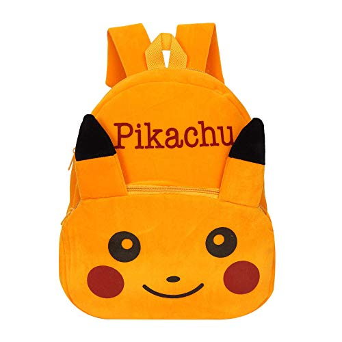 Lychee bags Velvet Kids Yellow School Bag