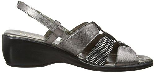 Lotus Lantic - sandalias con cuña de cuero mujer gris - Grey (Pewter Leather/Print)