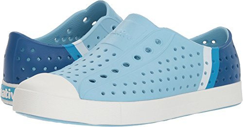Native Shoes Jefferson Water Shoe, Sky Blue/Shell White/Gradient Block, 8 Men