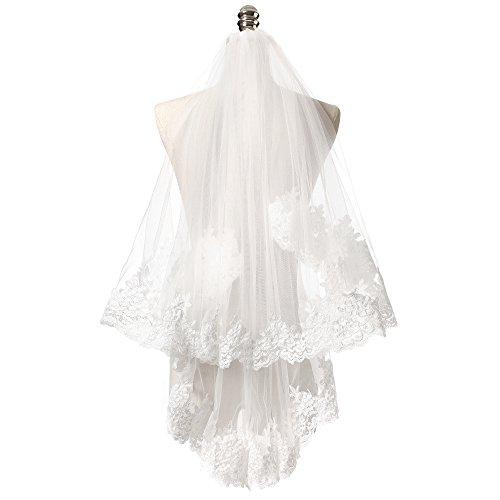 Lace Edge Wedding Veil - 8