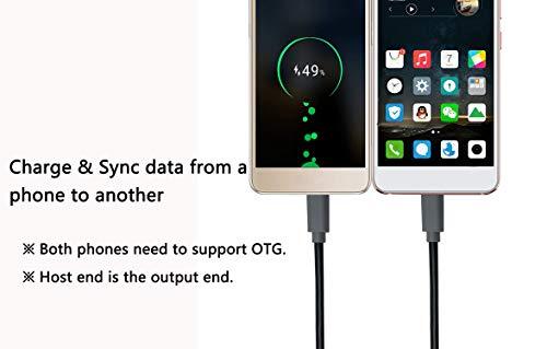CERRXIAN USB Micro Male to Micro Male OTG Adapter Cable (1m)