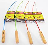 Marshmallow Roaster Sticks 4 pack cooking, roasting hotdogs at backyard patio campfire. Extending Family Fun camping outdoors-fire pit cooking with skewers & forks making Smores on a pole. Colors vary