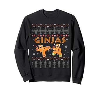 Amazon.com: Ginjas Gingerbread Ninjas Funny Ugly Christmas ...