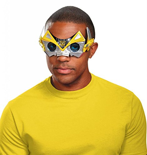 Disguise Men's Hasbro Transformers Age Of Extinction Movie Bumblebee Adult Movie Costume Glasses, Yellow/Black, One Size -