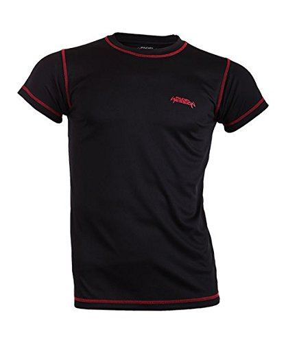 Padel Session Camiseta Tecnica Negro Rojo