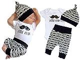 Newborn Baby Girl Boy Tops Romper Short Sleeve Long Pants Legging Hat Outfit