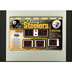 Pittsburgh Steelers Scoreboard Desk Clock