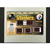 Team Sports America Pittsburgh Steelers Scoreboard Desk Clock